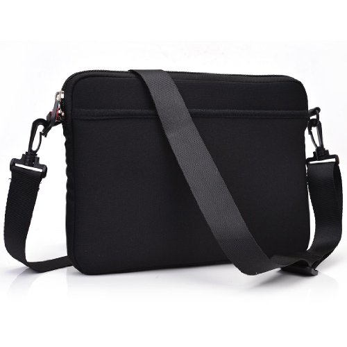 - Black Scoop Series Tablet Carrying Bag Sleeve with Shoulder Strap for Samsung Galaxy Tab 3 Lite 7