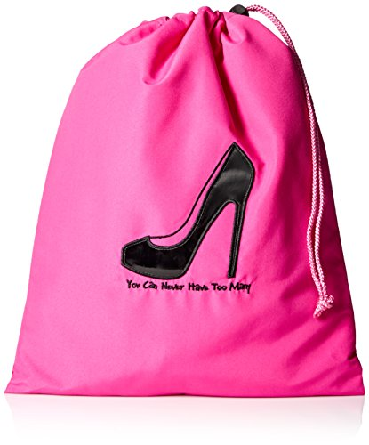 Price comparison product image Miamica Travel Accessories,  You Can Never Have Too Many Shoe Bag,  Pink & Black