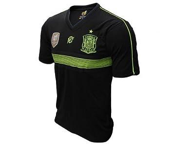 ESPAÑA 2ª EQUIPACION NEGRA ADULTO REPLICA OFICIAL (S): Amazon.es: Deportes y aire libre