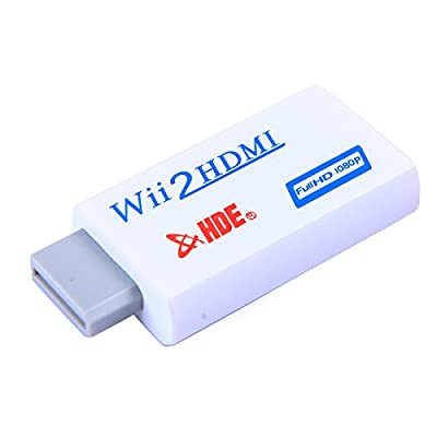 HDE Wii to HDMI Converter Adapter 1080p HD Video Audio Output for Nintendo Wii