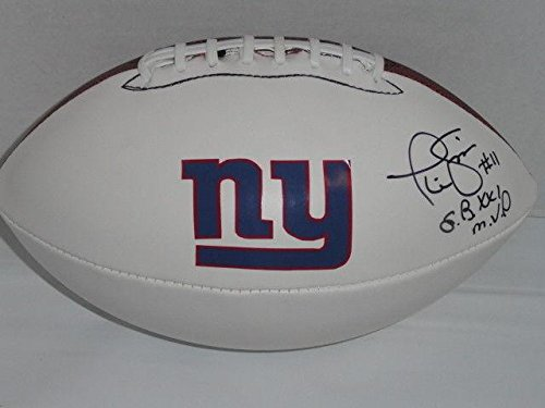 Phil Simms Signed Football New York Giants Super Bowl Xxi Mvp Inscription Proof - Autographed Footballs ()