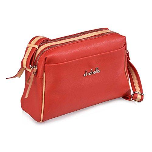 Rouge rouge Sac bandoulière CABALLO 551 talla pour unica femme EL 1014 07qOxZA