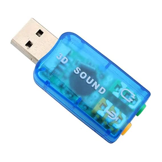 Cables Kart USB Sound Card | External Stereo Sound Card with 3.5 mm Headphone and Microphone Socket 7.1 Channel |