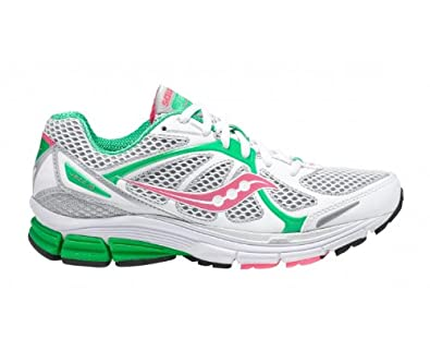 cb7afa44 SAUCONY Ladies Jazz 16 Running Shoes, White/Pink/Green, UK6.5 ...