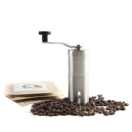 EXCEL-LEADER Manual Coffee Grinder,Precision Brewing Conical Burr Mill,Brushed Stainless Steel Review