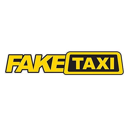 Bleumoo 3Pcs Fake Taxi Sticker Vinyl Car Window Funny Decals