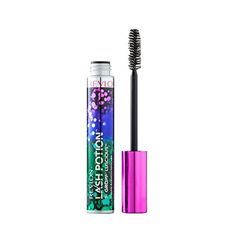 Revlon Lash Potion By Grow Luscious Waterproof Volume and Length Mascara, Blackest Black, 0.34 Ounce