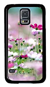 Galsang Flower 3 Black Hard Case Cover Skin For Samsung Galaxy S5 I9600