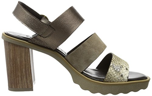 Hispanitas Women's Gisella Open Toe Sandals Mehrfarbig (Nairobi-v7 Natural Velour-v7 Elm Caribu Metal-v7 Acero) cheap sale cost discounts cheap price choice online buy cheap under $60 P5RDJw