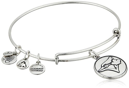 Alex and Ani Toronto Blue Jays Cap Logo Expandable Rafaelian Silver Bangle Bracelet (Toronto Jays Blue Jewelry)
