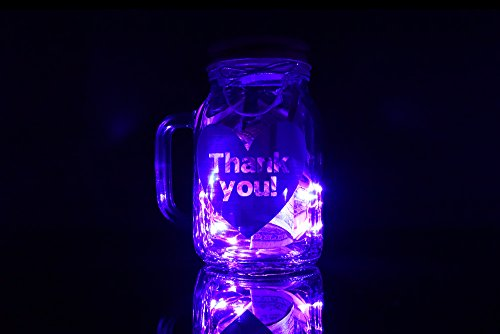 (LightWorks Labs Illuminated Tip Jar for Uber Drivers and Bar Staff - Pink)