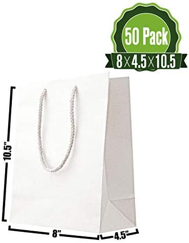 Luxury White Recycled Gift Bag Rope Handles Baby Wedding Party Paper Bags