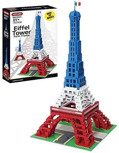 Imex Tri Color Flag Eiffel Tower Compatible Building Block Set