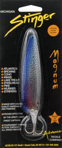 Advance Tackle Edge Magnum Stinger Spoon, Silver/Blue