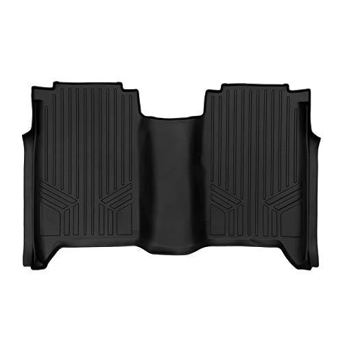 SMARTLINER Floor Mats 2nd Row Liner Black for 2004-2015 Nissan Titan Crew Cab (4 Full Doors)