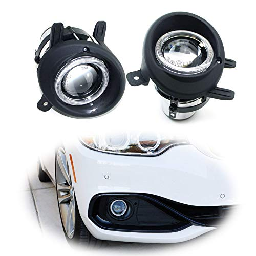 iJDMTOY (2) OEM Replace Projector Fog Light Housings For BMW F22 2 Series, F30 F31 3 Series, F32 F33 F36 4 Series, HID or LED Ready (Bulbs Not Included) 3 Series Projector Fog Lights