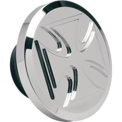 Chrome Billet Maltese - Novello Non-Vented Billet Gas Cap - Maltese - Chrome NIL-177