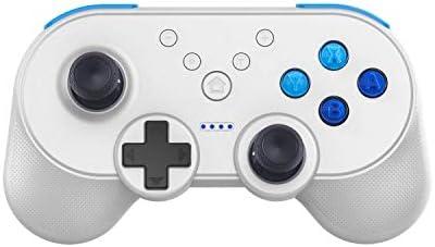 Mekela Wireless Controller Gamepad Joystick for Nintendo Switch Pro Console Support NFC, Turbo Speed Change, Dual Engine Vibration, Gravity Sensor (white03)