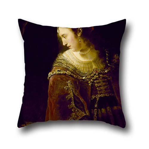 Best Chairs Ferdinand - Oil Painting Ferdinand Bol - Woman At Her Dressing Table Cushion Covers 16 X 16 Inch / 40 By 40 Cm Best Choice For Dinning Room,lounge,saloon,club,chair,wedding With 2 Sides