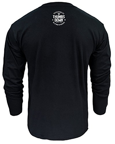 MMA Thumbsdown Long Sleeved Top, Mixd Martial Arts Eat Your Enemies Herren T-shirt