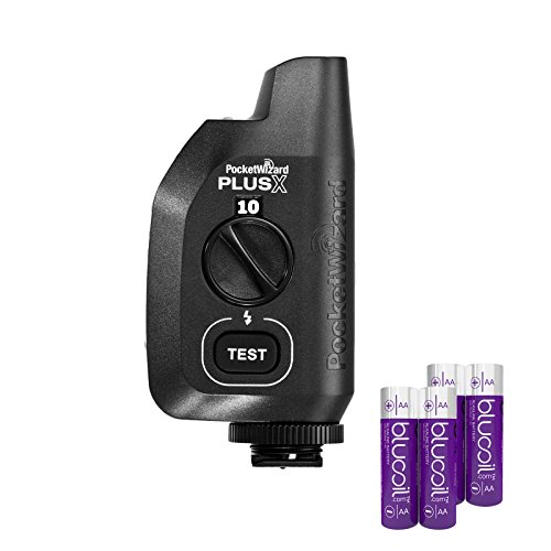 PocketWizard PlusX 2 Pack Radio Transceiver – Camera & Remote Flash Trigger -INCLUDES- 4 Pack of Blucoil AA Batteries by blucoil