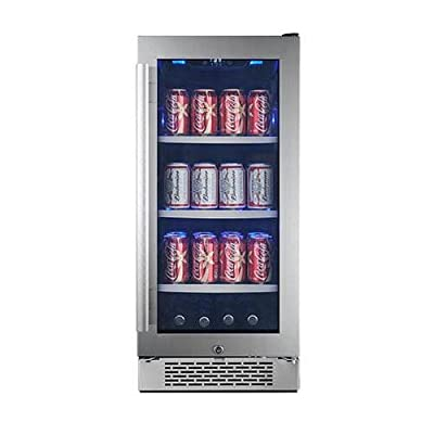 Avallon ABR151GLH 15 Inch Wide 86 Can Energy Efficient Beverage Center with LED
