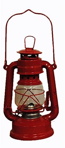 Red Hurricane Kerosene Oil Lantern Emergency Hanging Light / Lamp - 8 Inches (Red Hurricane)