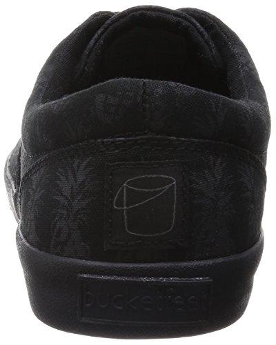 Sneaker Da Uomo In Pelle Con Fibbia In Pizzo (triplo Nero) 8