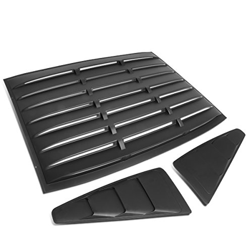 For Ford Mustang Coupe 3Pcs Vintage Style Rear + L/R Quarter Side Window Louvers Sun Shade - Rear Louver Ford Window Mustang