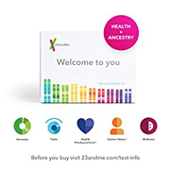 Before Mailing, register your kit at 23andme.com/start otherwise, your sample will NOT be processed. ANCESTRY FEATURES Ancestry reports - 35+ reports including: Ancestry Composition, Ancestry Detail Reports, Maternal & Paternal Haplogroup...