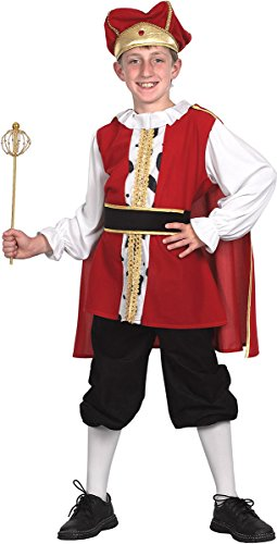 Kids Fancy Party Medieval Tudor King Boy's World Book Week Day Outfit (Book Week Costumes For Boys)