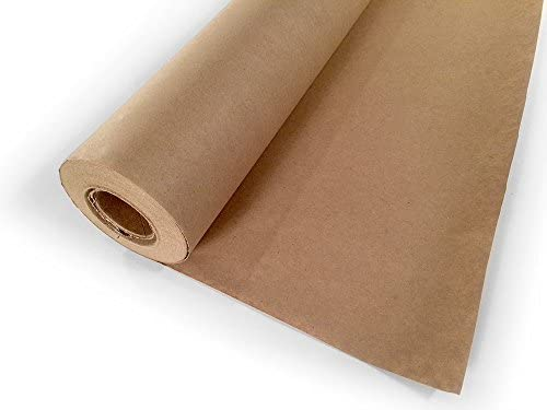 Note Card Cafe Kraft Paper for Arts and Crafts | Brown Jumbo Roll | 30 x 1200 in (100ft) | Biodegradable | Great for Projects, Gifts, Tablecloth, Floor Covering, Packing, Moving, Shipping, Postal