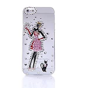 conseguir Falda corta de circón belleza recubierto en fondo transparente para el iphone 5/5s