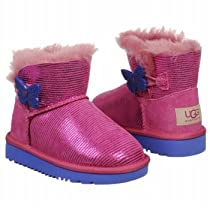 UGG Toddlers and Kids Mini Bailey Button Lizard Boot