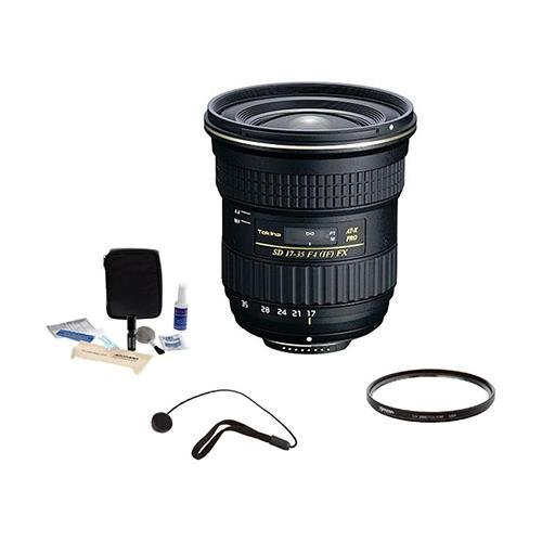 Tokina 17mm-35mm F/4 AT-X Pro FX Lens for Nikon w/82mm UV Filter+Cleaning Kit+