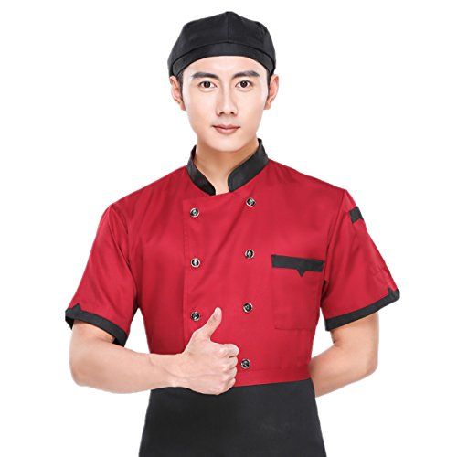 10 button unisex chef coat - 9