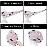 Jigg-lyp-uffs Hair Towel Wrap Ultra Absorbent Hair