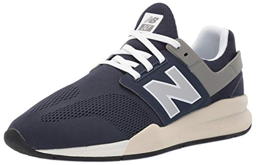 New Balance Men's 247v2 Sneaker, Nubuck Navy/Bone, 7.5 D US