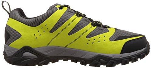 Columbia Redmond Mid Waterproof - Zapatillas para Deportes Hombre Gris (Chartreuse/Light Grey 380)