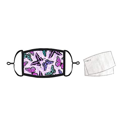 WFeieig 3PC Face Bandana with Adjust Earloop,Dust Haze Protection Mouth Bandanas with 6 Filter Sheet for Outdoors