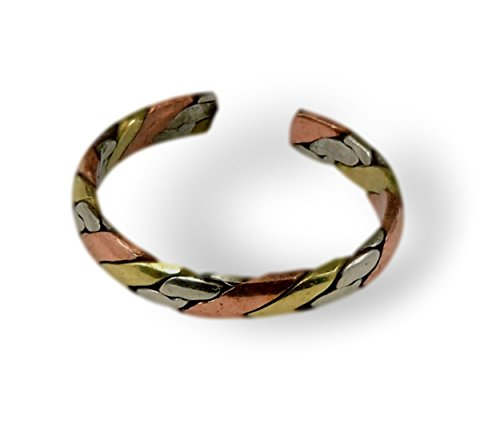 Tibetan Om Mani Padme Hum Healing Ring (Three metal gingle)