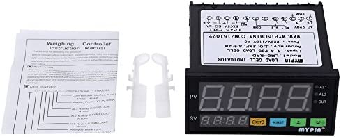 LED Weighing Controller,Digital Load-Cells Indicator 1-4 Load Cell Signals Input 2 Relay Output 4 Digits LED Display