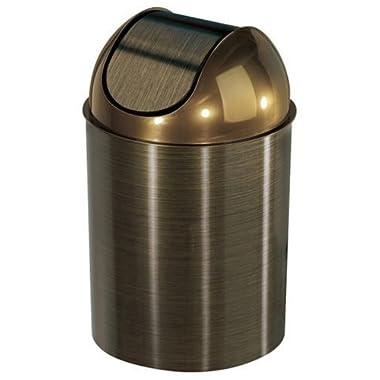 Umbra Mezzo 2.5-Gallon Swing-Top Waste Can, Bronze