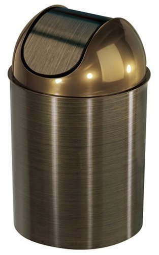 Umbra Mezzo Swing-Top Waste Can, 2.5-Gallon (10 L), Bronze