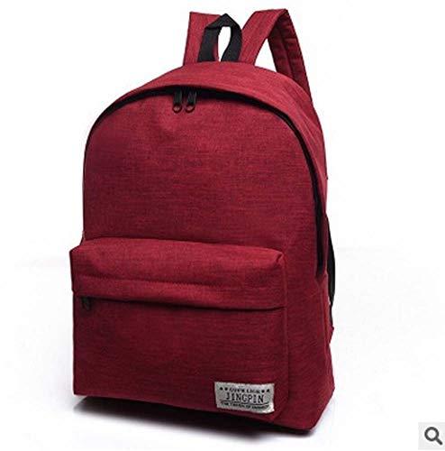 Mankvis New Backpack Korean Leisure Travel Backpack Waterproof Current High School Student Backpack,Red