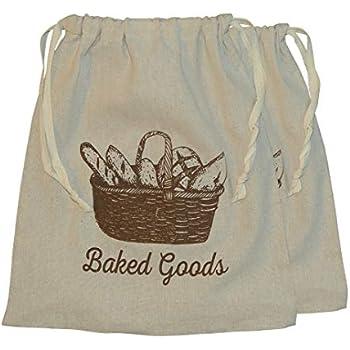Amazon Com Natural Linen Bread Bags 2 Pack 11 X 15