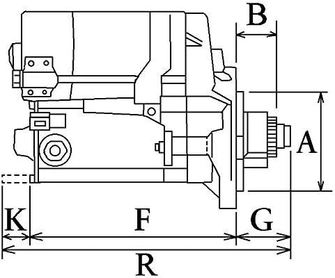 STARTER MOTOR HC-CARGO 111765 Marine 12 VOLT 0.9 KW 9 TEETH