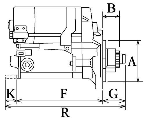 Moteur de d/émarrage HC-CARGO 110447 Kubota DM1102 Diesel 12 V 9 dents Type de densit/é 1,0 kW