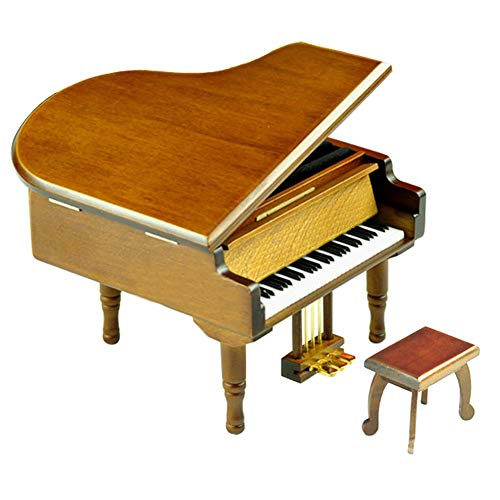 (Play (Can't Help Falling in Love) Wooden Piano Music Box with Sankyo Musical Movement)