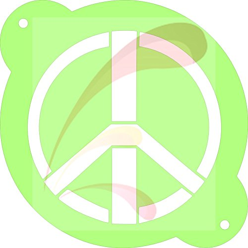 Peace Sign, woodstock, 1960, hippie, Cookie stencil, Cake Stencil, Coffee Stencil, Candy Stencil, Cupcake stencil for Royal Icing, powders, sugars, edible glitters and Airbrushing ()